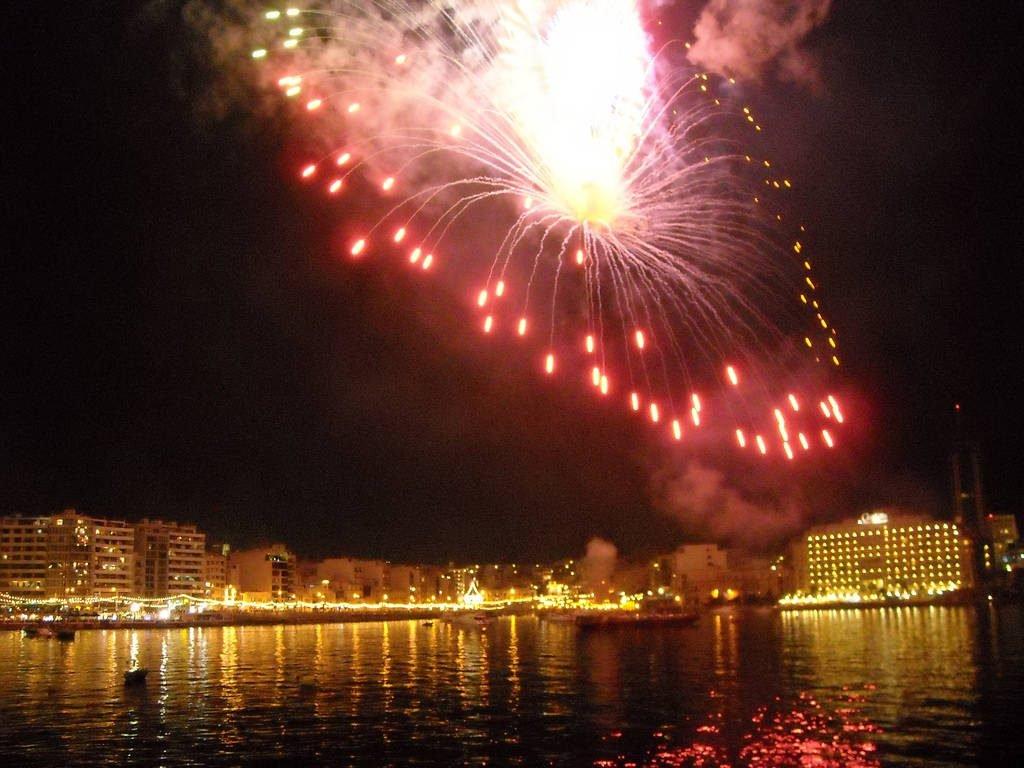 Fireworks at St Julian's festa